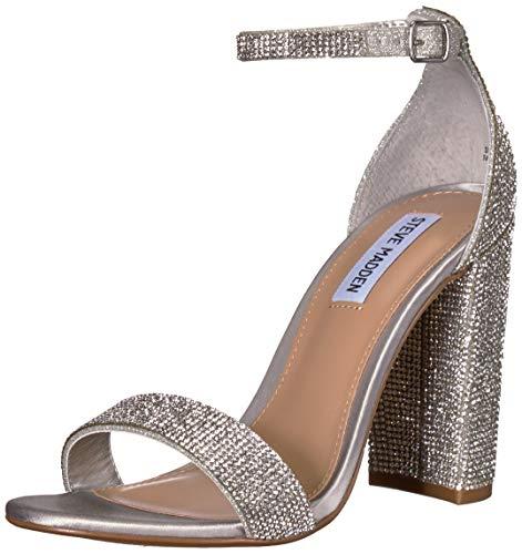 Steve Madden Women's Carrson Heeled Sandal, Crystal, 8