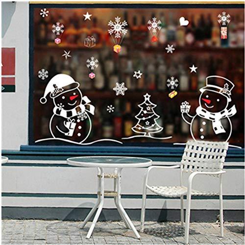 ZHAOZX Decorazioni di Natale di Capodanno per Autoadesivo della Decorazione di Natale della Finestra del Negozio di Finestra di Vetro Casa