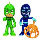 Giochi Preziosi Pj Masks Coppia di Personaggi Geco e Ninja della Notte