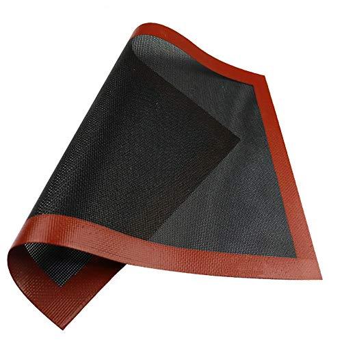 Ziyero Silikon Backmatten rutschfeste Nonstick Backunterlage Haltbare Dauerbackfolie Silikon und Fiberglas, Einfach zu Säubern, Wiederverwendet, für Backofen, Mikrowelle, Gefrierschrank Usw—Schwarz