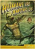 Kemeinuo Cuadros Modernos Criatura de la película de Terror Estadounidense de la Laguna Negra Carteles Retro Carteles de Pared Pintura decoración artística Lienzo 60x90cm