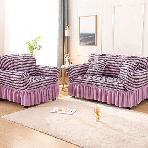 Asiento Funda de sofá elástica de Color sólido para Sala de Estar Fundas seccionales elásticas Impresas Funda de sofá en Forma de L A12 3 plazas