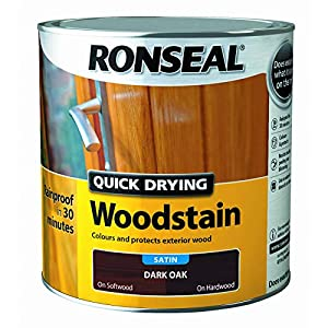 Ronseal Quick Drying Woodstain Dark Oak Satin 2.5L