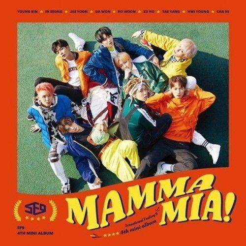 SF9 - [Mamma Mia!] 4th Mini Album CD+64p Booklet+1p PhotoCard+1p Ticket Card+1p Selfie Card K-POP Sealed