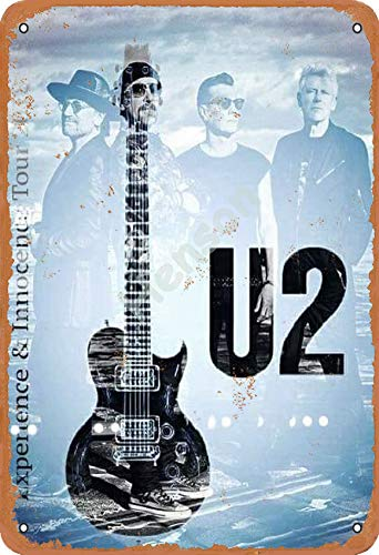 Henson U2 Experience and Innocence Tour 2018 Vintage Tin Sign Logo 12 * 8 Inches Advertising Eye-Catching Wall Decoration