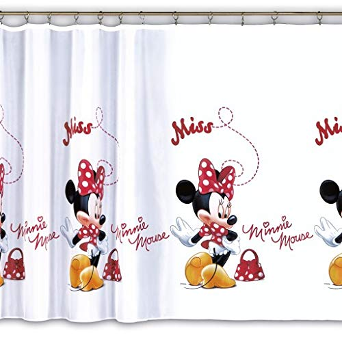 Licensed Cartoon Voile Net Curtain – Minnie Mouse 1er 75 cm Width x 150 cm Drop