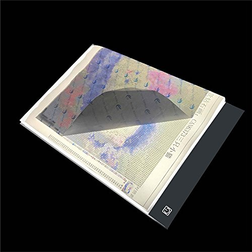 A4 LED Light Tablet Board Pad Apply to DIY 5D Diamond Painting for Adults by Number Kit, See Symbols and Numbers Clearer