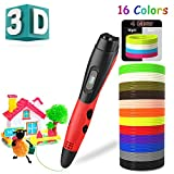 BeTIM 3D Pen for Kids Adults with 12 Colors 120Ft PLA Filament Refills...