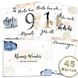 45 Baby Meilensteinkarten