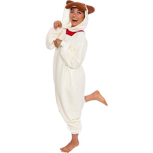 Silver Lilly Unisex Adult Pajamas - Plush One Piece Cosplay Pug Dog Animal  Costume 618d28394
