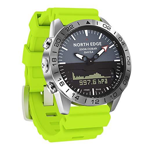YPSMCYL Reloj De Silicona De Color para Exteriores North Edge Reloj De Buceo De Presión De Altitud Doble Pantalla Impermeable