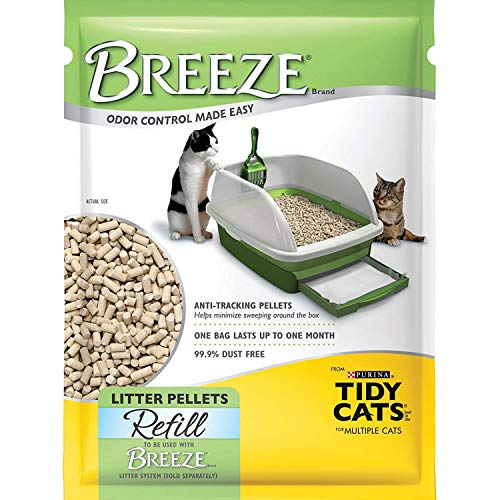 pellet cat litter boxes BREEZE Cat Refill Litter Pellets 3.5 lbs (Pack of 4)