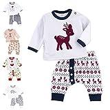 Baby Sweets Unisex 2er Baby-Set mit Hose & Shirt für Mädchen & Jungen/Baby-Erstausstattung in Grau, Blau & Braun im Rentier-Motiv/Baby-Kleidung aus Baumwolle in Größe: 3-6 Monate (68)