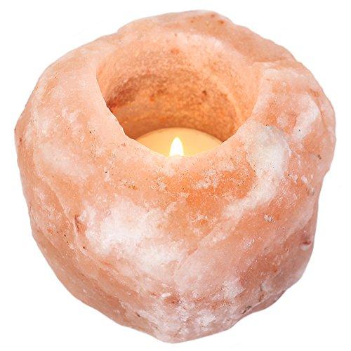Jones Home and Gift Salz-Lampe, Teelichthalter, Mehrfarbig