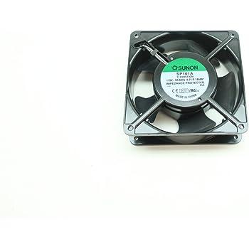 Sunon SP101A-1123HST.GN SP Series 2550//2900 Rpm 120 x 120 x 38 mm 85//105 CFM115 Vac Sleeve Bearing Fan 1 Item s