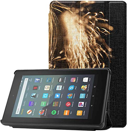 Funda para Tableta Living and Burning Phoenix Kindle 7 Protector de Pantalla y Funda para Tableta Fire 7(novena generación,versión 2019) Ligero con Reposo/activación automático