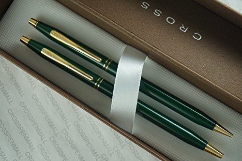 Cross CenturyクラシックInternaltionalコレクショングリーンボールペンand Pencil Set with 23?KTゴールドAppointments Made In USA