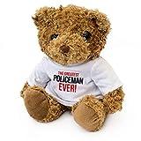 The Greatest Policeman Ever - Teddy Bear - Cute Soft Cuddly - Gift Present Award