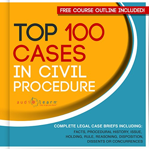 Top 100 Cases in Civil Procedure: Legal Briefs audiobook cover art