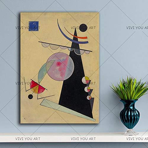 PVZADEW Cuadro en acrílico 100% Hecho a Mano Nuevo Wassily Kandinsky Lienzo Pintura Moderna Pared Arte decoración del hogar Pintura Abstracta decoración Sala de Estar Regalo 60x80 cm