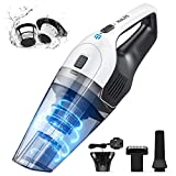 Holife Handheld Vacuum Cordless, 6.5Kpa Powerful Handheld Hoover Vacuum Cleaner, Portable Lightweight Hand Vac (Wall-mount Charger, 3hr Fast Charging, 30min Use and HEPA) for Home, Car and Pet