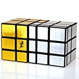 Espejo Combinado mágico Cube Bundle Cube Juego Profesional Juguetes educativos Especiales,Gold+Silver