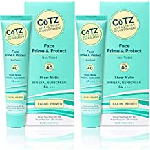 CoTZ FACE Non-Tinted SPF 40 Mineral Sunscren (Pack of 2) With Zinc Oxide and Titanium Dioxide, For Acne-Prone, Oily, Normal, Dry, Combination, Sensitive or Mature Skin, 1.5 oz.