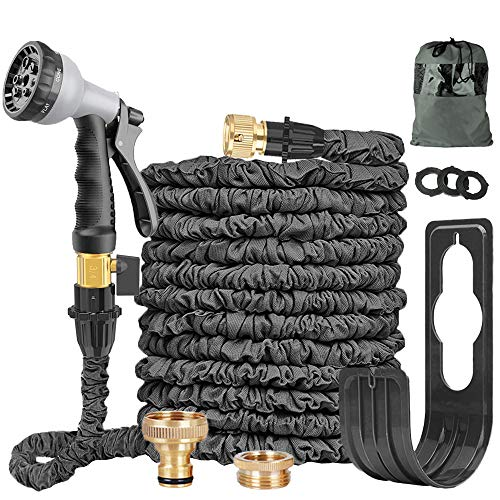 Expandable Garden Hose Pipe 100FT Expanding Water Hose 8 Function Spray Gun...