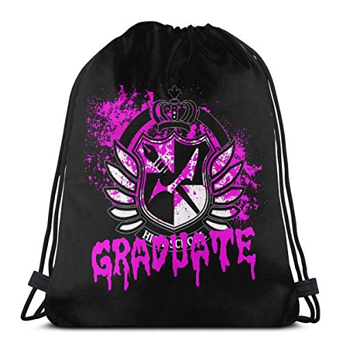 Hdadwy Graduate of Hope's Peak Drawstring Bags Sport Gym Backpacks Storage Goodie Cinch Bags
