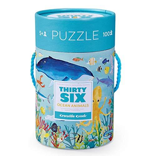CROCODILE CREEK CC-384054-3 - Puzle en caja 100 piezas - Animales del océano