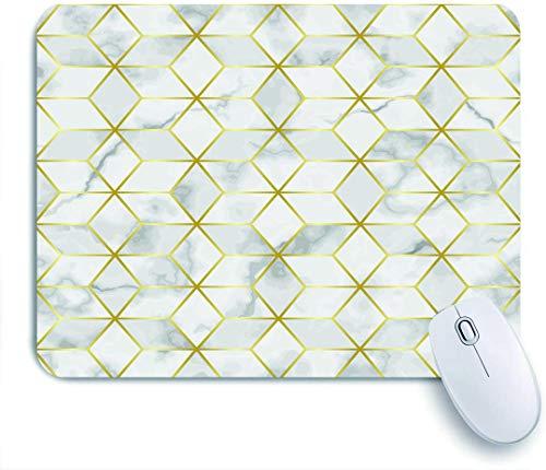 NOLOVVHA Gaming Mouse Pad Rutschfeste Gummibasis,Luxus Marmor Mosaik Stern Fliese,für Computer Laptop Office Desk,240 x 200mm