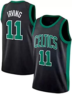 runvian Camiseta de Baloncesto para Hombre, NBA Boston Celtics 11# Kyrie Irving Bordado Transpirable
