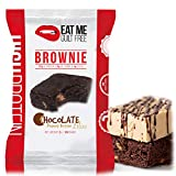 Eat Me Guilt Free Protein Brownie, Low Carb Healthy Snack or Dessert, 22g Protein, Chocolate Peanut Butter Bliss (12 Count)