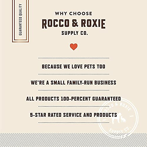 Rocco & Roxie - Jerky Dog Treats Made in USA - Puppy Training Treat Slow Roasted Snacks for Dogs - Natural Grain Free Soft Chews - Delicious and Healthy Jerkey Sticks - All USDA Inspected Beef
