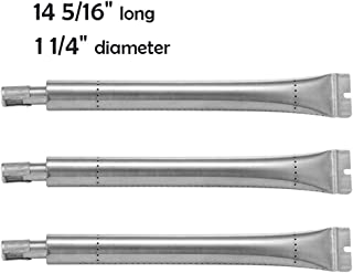 YIHAM KB869 Grill Tube Burner Replacement Parts for Broil King Signet and Sovereign Gas BBQ Models, 14 5/16 inch x 1 1/4 inch, Stainless Steel, Set of 3