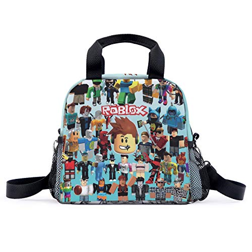 suzzc Ro-Blox Lunch Bag Waterproof Lunch Box Portable for Boys Girls School Travel
