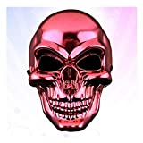 Halloween Metal Mask Scary Skeleton Halloween Mask Plated Full Face Ghost Death Halloween Masks Protector for Costume Cosplay(Red)