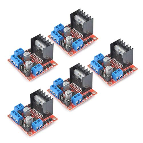 DollaTek 5Pcs L298N Dual H Bridge Stepper Motor Driver Board para Arduino