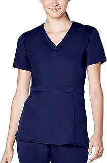 Adar Pro Scrubs for Women - Tailored Peplum Scrub Top