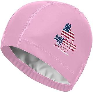 Zhgrong Cap American Bully Logos Gorras de natación de Alta Elasticidad para Adultos Hombres Mujeres