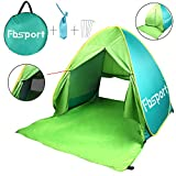 FBSPORT Portable Lightweight Beach Tent,Automatic Pop Up Sun Shelter Umbrella,Outdoor Cabana Beach Shade with UPF 50+ Sun Protection (Green3)