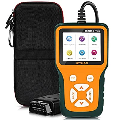JETHAX Handheld OBD2 Scanner, Car Fault Code Reader Diagnostic Scan Tool Compatible with All Vehicles 1996 and Newer, Check I/M Readiness, 02 Sensor, EVAP Systems from JETHAX