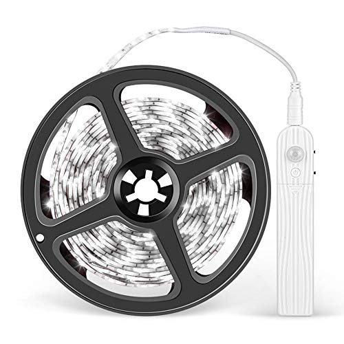 LEDテープライト 3M 乾電池式 人体センサー付き 三つレベル輝度調節 三つ点灯モード IPX4防水 切断可能 間接照明 室内 階段 店舗 看板 天井 棚下照明 クリスマス用 パーティー 装飾用 雰囲気ライト 携帯便利 (昼白色)