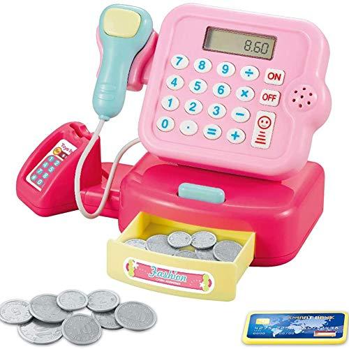 Speel Cash Register Speelgoed Voor Kids, Kassier Van De Supermarkt Toy, Pretend Play Money Machine, Kids Jongens Meisjes Gifts,C