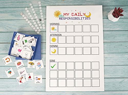 Inkdotpot Kinder Täglich Verantwortung Checkliste, To-Do-Kinder Listen- Täglich Routine Lästige Pflicht Chart- Morgens/Abends Checklist- Tägliche Aufgabe Listen- Job