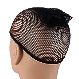 Berretto a rete, berretto a retina per capelli elasticizzato professionale per parrucca qu...