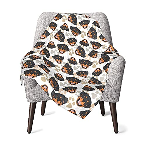 Manta de bebé Lindo Rottweiler Suave y cálido Mantas de recepción para niños niñas Recién Nacido 76X102CM