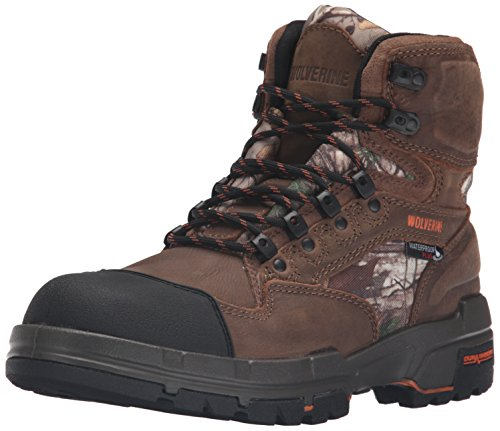 WOLVERINE Men's Claw Insulated Waterproof-M Hunting Boot, Brown/Realtree, 8 M US