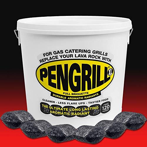 PENGRILL XL120 FULL Radianten Duurzame aromatische Lava Rock Lavasteine Vervanging.