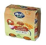 Hero Baby Trocitos Tarritos de Espaguetis Con Carne Y Verduras - Para Bebés a partir de 10 meses- 6 Packs De 2X250G